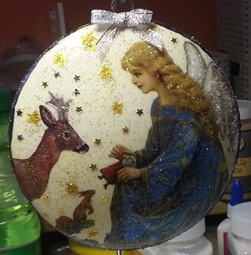 Kunsthandwerk aus Polen- Weihnachtskugel - Styroporkugel