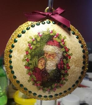 Christbaumschmuck – Styroporkugeln für den Weihnachtsbaum